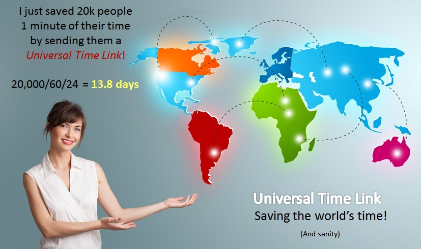 Overview of Universal Time Link & the collective saving in time for the world.