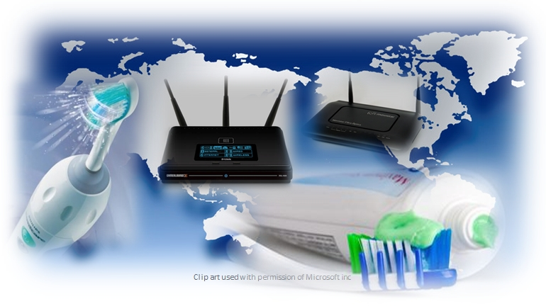 Time Zones, Toothpaste & Routers.