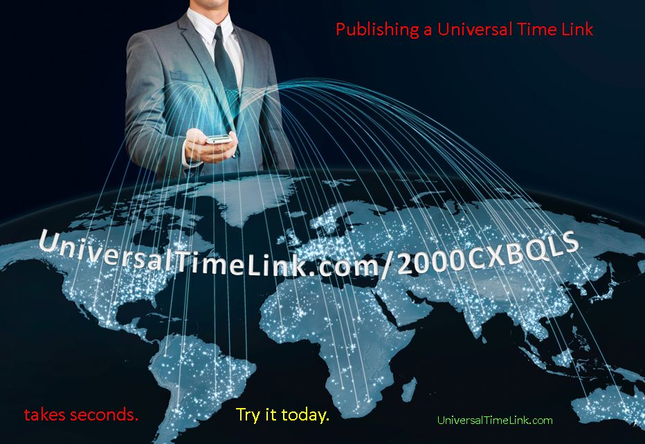 A Universal Time Link Takes seconds